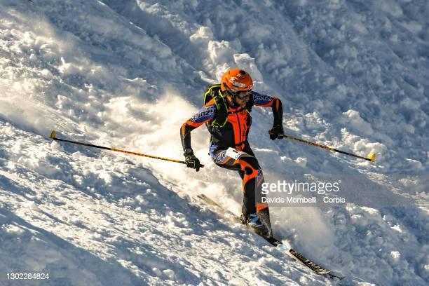 Vincenzo Bertocchi in action during Italian Team Ski Mountaineering Championships on February 14, 2021 in ALBOSAGGIA, Italy.