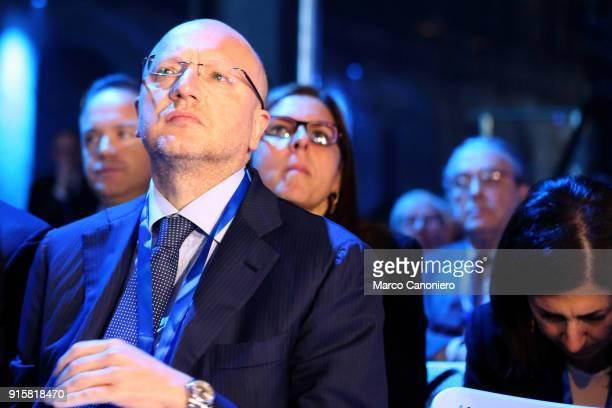 Vincenzo Boccia president of the Confindustria during the presentation of results of Piano Impresa 40 Innovazione e competenze