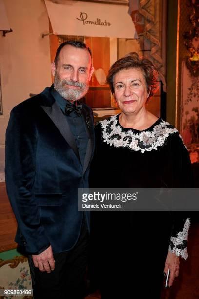 Vincenzo Castaldo and Eva Desiderio attend the Cocktail Dinner for the new Pomellato campaign launch with Chiara Ferragni as part of Paris Fashion...