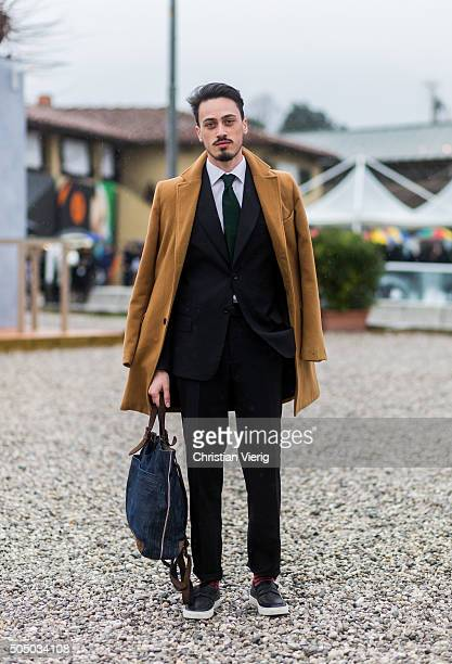 Vincenzo Cornacchione during Pitti Uomo 89 on January 14 in Florence Italy