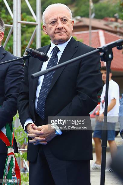 Vincenzo De Luca attends Giffoni Film Festival opening ceremony on July 15 2016 in Salerno Italy