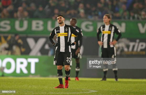 Vincenzo Grifo of Borussia Moenchengladbach and Denis Zakaria Lako Lado of Borussia Moenchengladbach and Jannik Vestergaard of Borussia...