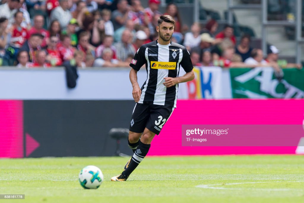 Vincenzo Grifo of Gladbach controls the ball during the Telekom Cup 2017 match between Borussia Moenchengladbach and Werder Bremen at on July 15, 2017 in Moenchengladbach, Germany.