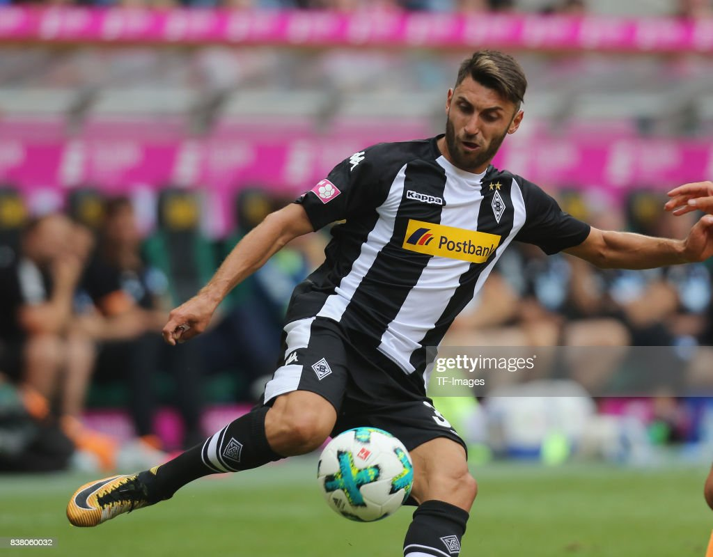 Vincenzo Grifo of Moenchengladbach controls the ball during the Telekom Cup 2017 3rd place match between Borussia Moenchengladbach and TSG Hoffenheim at Borussia Park on July 15, 2017 in Moenchengladbach, Germany.