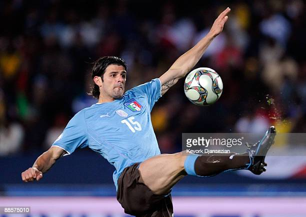 Vincenzo Iaquinta of Italy controls the ball against Egypt during the FIFA Confederations Cup between Italy and Egypt at Ellis Park Stadium on June...