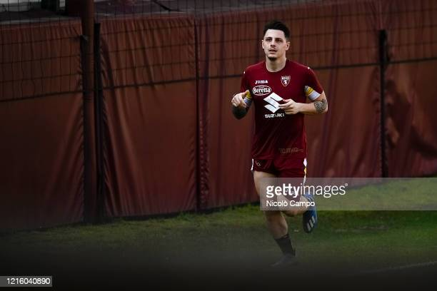 Vincenzo Millico of Torino FC in action during Torino FC training session