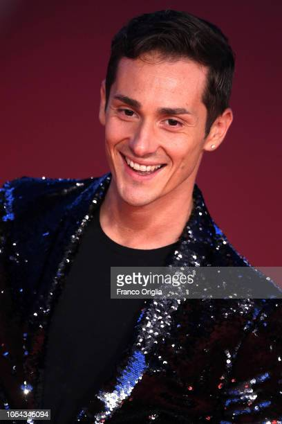 Vincenzo Mingolla walks the red carpet ahead of the 'Notti Magiche' screening during the 13th Rome Film Fest at Auditorium Parco Della Musica on...