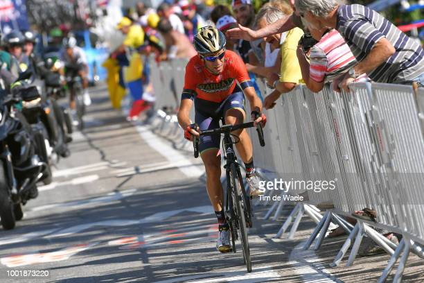 Vincenzo Nibali of Italy and Bahrain Merida Pro Team / Alpe d'Huez / Fans / Public / during the 105th Tour de France 2018 Stage 12 a 1755km stage...