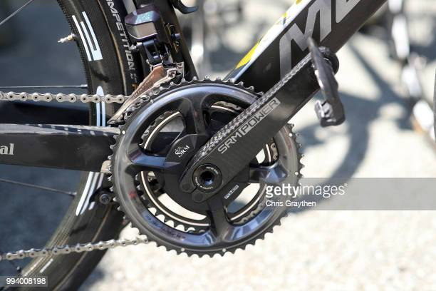 Vincenzo Nibali of Italy and Bahrain Merida Pro Team / Crankset / Merida Bike / llustration / during the 105th Tour de France 2018, Stage 2 a 182,5km...