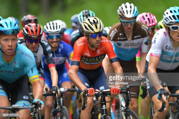 Vincenzo Nibali of Italy and Bahrain Merida Pro Team / during the 70th Criterium du Dauphine 2018 Stage 4 a 181km stage from ChazeysurAin to...