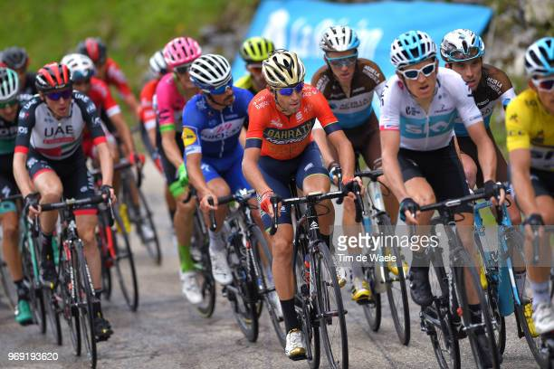 Vincenzo Nibali of Italy and Bahrain Merida Pro Team / Pierre Latour of France and Team AG2R La Mondiale / Julian Alaphilippe of France and Team...