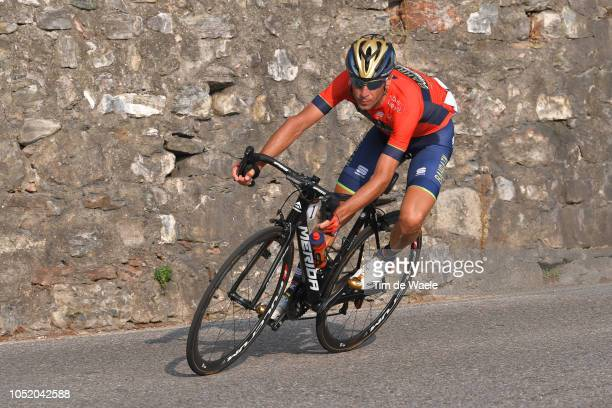 Vincenzo Nibali of Italy and Team Bahrain Merida / during the 112th Il Lombardia 2018 a 241km race from Bergamo to Como / IL / on October 13 2018 in...