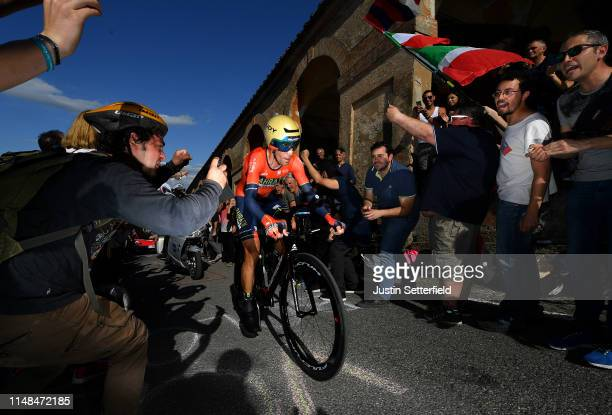 Vincenzo Nibali of Italy and Team Bahrain Merida / Public / Fans / during the 102nd Giro d'Italia 2019 Stage 1 a 8km Individual Time Trial from...