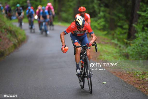 Vincenzo Nibali of Italy and Team Bahrain - Merida / Refreshment / Passo del Mortirolo / during the 102nd Giro d'Italia 2019, Stage 16 a 194km stage...