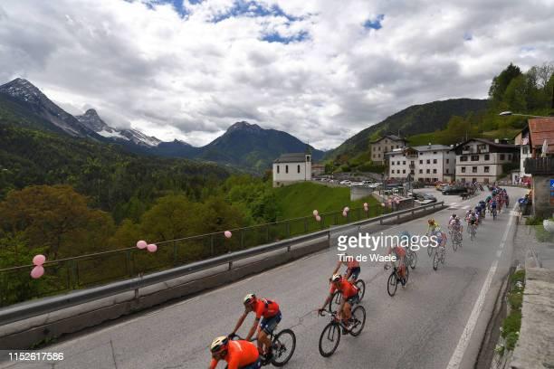 Vincenzo Nibali of Italy and Team Bahrain Merida / Valle di Cadore / Mountains / Landscape / Peloton / Snow / during the 102nd Giro d'Italia 2019...