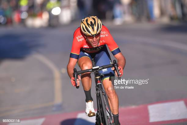 Vincenzo Nibali of Italy and Team BahrainMerida / during the 109th MilanSanremo 2018 a 291km race from Milan to Sanremo on March 17 2018 in Sanremo...