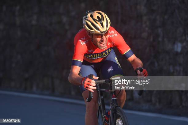 Vincenzo Nibali of Italy and Team Bahrain-Merida / during the 109th Milan-Sanremo 2018 a 291km race from Milan to Sanremo on March 17, 2018 in...