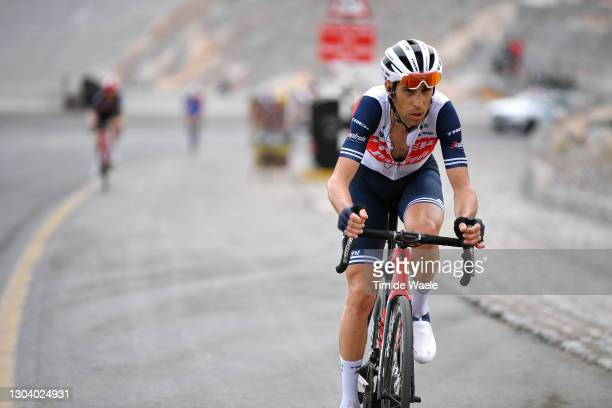 Vincenzo Nibali of Italy and Team Trek-Segafredo during the 3rd UAE Tour 2021, Stage 5 a 170km stage from Fujairah Marine Club to Jebel Jaison 1489m...