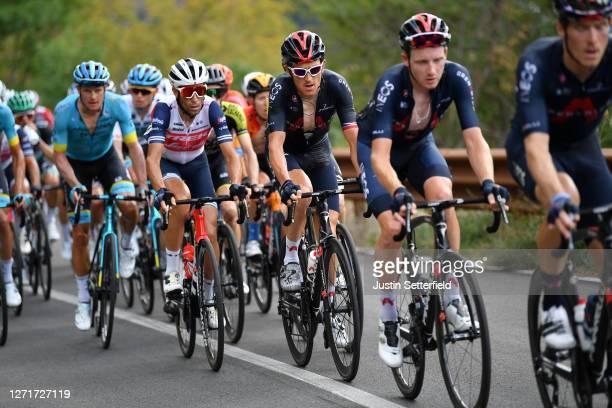 Vincenzo Nibali of Italy and Team Trek-Segafredo / Geraint Thomas of The United Kingdom and Team INEOS Grenadiers / during the 55th Tirreno-Adriatico...