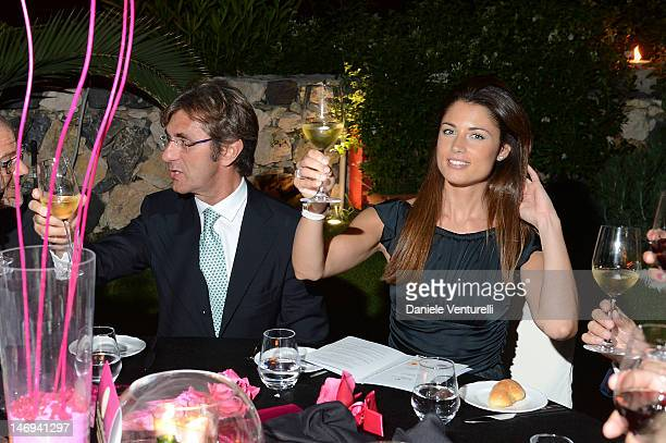 Vincenzo Novari and Daniela Ferolla attend the 'Opening Ceremony Gala Dinner' during the 58th Taormina Film Fest at La Plage Resort on June 23 2012...