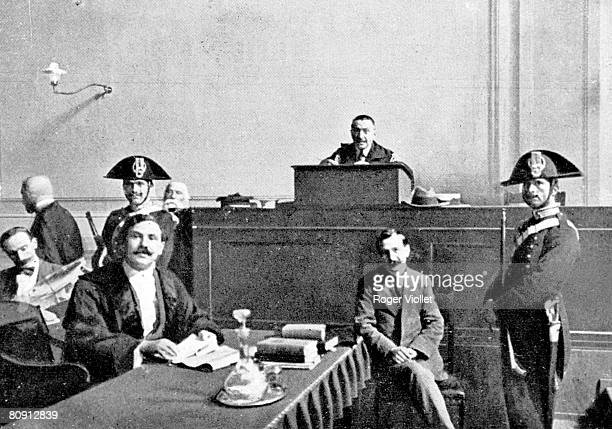 Vincenzo Peruggia the kidnaper of the Mona Lisa is shown in court after the former Louvre worker walked into the museum one day and noticed the room...