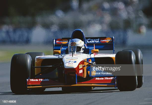 Vincenzo Sospiri of Italy drives the MasterCard Lola F1 Team Lola T97/30 Ford V8 during practice the Qantas Australian Grand Prix on 8th March 1997...