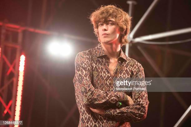 Vincenzo Zurzolo one of the protagonists of the Netflix film Sotto il sole di Riccione surprise guests on the stage of Deejay On Stage for the...