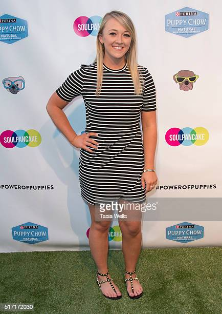 Vine and YouTube star Megan McCarthy attends SoulPancake's Puppypalooza Party at SoulPancakes Headquarters on March 23 2016 in Los Angeles California
