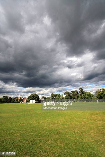 vine cricket ground in sevenoaks, england - cricket pitch stock pictures, royalty-free photos & images