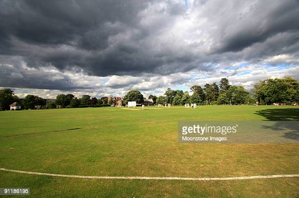 vine cricket ground - cricket pitch stock pictures, royalty-free photos & images