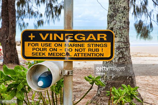 Vinegar for jellyfish stings