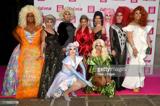 Vinegar Strokes, Bagga Chipz, The Vivienne, Blu Hydrangea, Cheryl Hole, Crystal, Gothy Kendoll, Davina De Campo and Sum Ting Wong attend Ru Paul's...