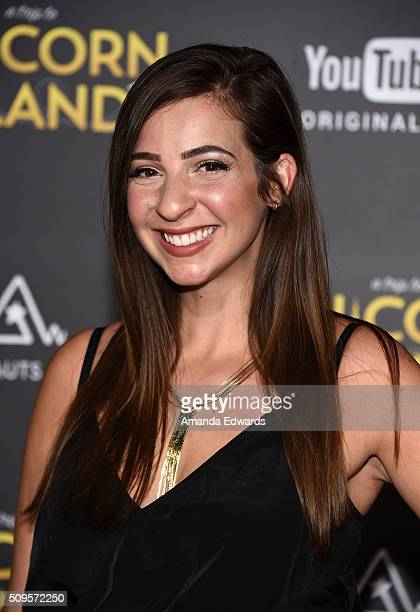 Viner Gabrielle Hanna arrives at the premiere of A Trip To Unicorn Island at TCL Chinese Theatre on February 10 2016 in Hollywood California