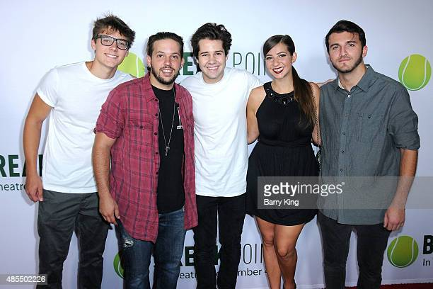 Viners Alex Ernst Heath Hussar David Dobrik Gabbie Hanna and Zane Hijazi attend the special screening of Broad Green Pictures' 'Break Point' at TCL...