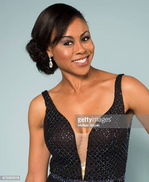 Vinessa Antoine at The 44th Daytime Emmy Awards Portraits by The Artists Project Sponsored by Foster Grant on April 30 2017 in Los Angeles California