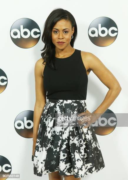 Vinessa Antoine attends the Disney ABC Television Group hosts TCA Winter Press Tour 2018 held at The Langham Huntington on January 8 2018 in Pasadena...