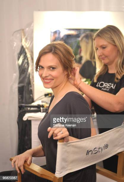 Vinessa Shaw appears at day two of The InStyle Golden Globes Beauty Lounge 2010 at Four Seasons Hotel on January 16 2010 in Beverly Hills California