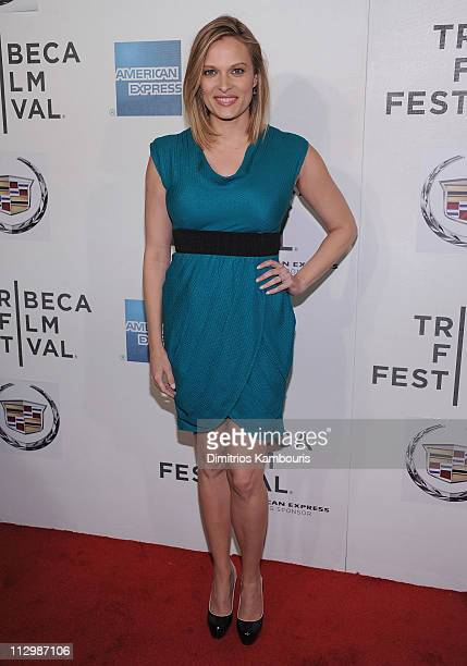 Vinessa Shaw attends the premiere of The Good Doctor during the 10th annual Tribeca Film Festival at BMCC Tribeca PAC on April 22 2011 in New York...