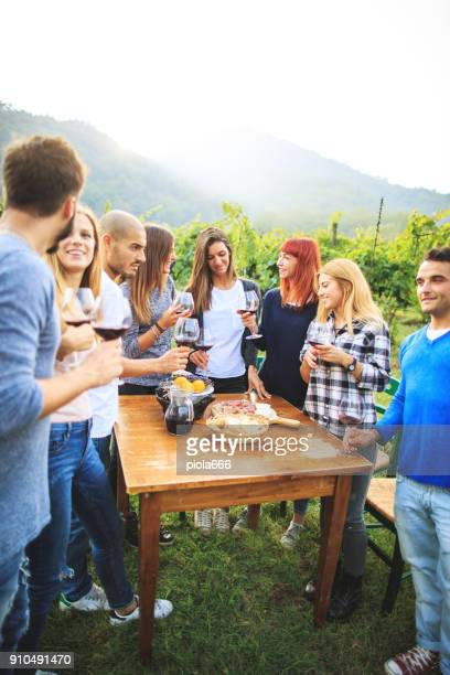 Vineyard party at agriturismo in Italy