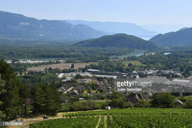 Vineyards / Landscape / Peloton / Grand Colombier / during the 32nd Tour de L'Ain 2020, Stage 3 a 145km stage from Saint Vulbas to Grand Colombier...