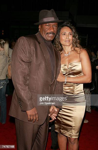 Ving Rhames and wife at the Ziegfeld Theater in New York City New York