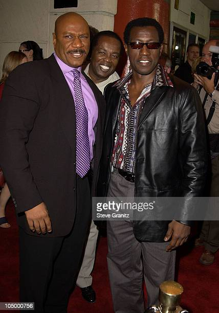 """Ving Rhames, Lou Rawls & Wesley Snipes during """"Undisputed"""" Premiere at Mann Festival in Westwood, California, United States."""