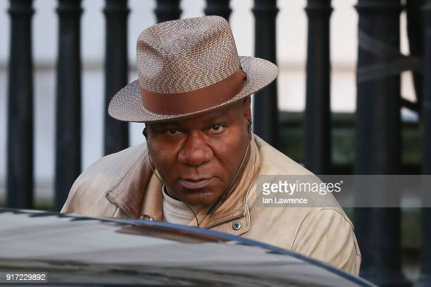 Ving Rhames seen filming scenes for Mission Impossible 6 at the Tate Moderm museum on February 11 2018 in London England