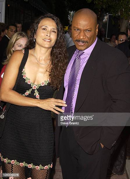 Ving Rhames wife Debbie during Undisputed Premiere at Mann Festival in Westwood California United States