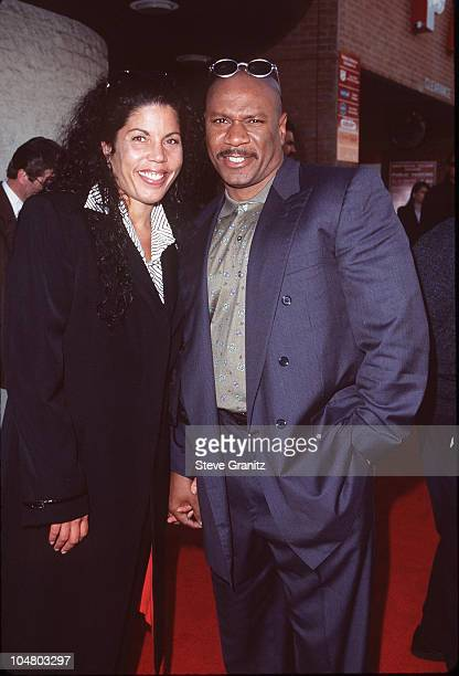 Ving Rhames Wife during The Truman Show Los Angeles Premiere at Mann National Theatre in Westwood California United States