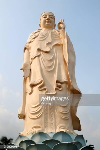 Vinh Trang Buddhist temple Amitabha Buddha statue My Tho Vietnam