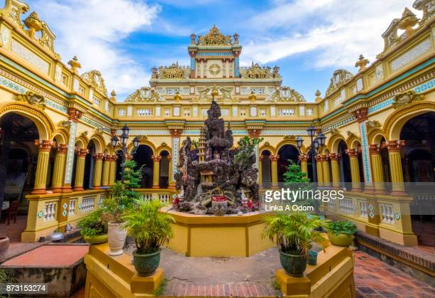 Vinh Trang Pagoda in My Tho in the Mekong Delta, Vietname