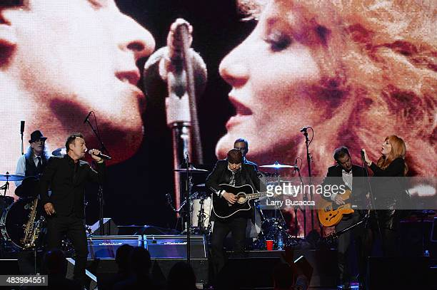 Vini Lopez Bruce Springsteen Steve Van Zandt Max Weinberg Garry Tallent and Patti Scialfa perform onstage at the 29th Annual Rock And Roll Hall Of...