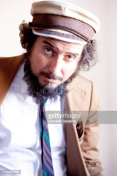 Vinicio Capossela singersongwriter and Italian writer Mantova Italy September 2013