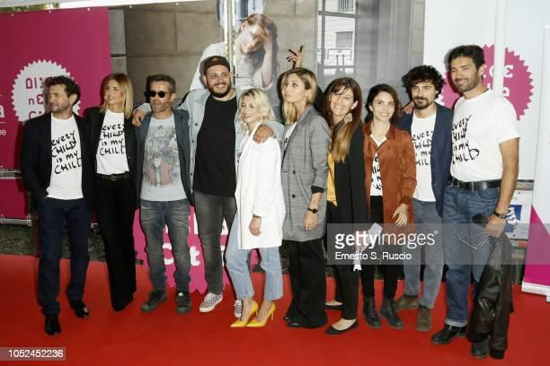 Vinicio Marchio Martina Colombari Daniele Silvestri guest Emma Marrone Anna Ferzetti guest Claudia Potenza and guests attend the Every Child Is My...